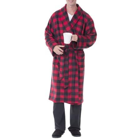 Walmart: Fruit of the Loom Men's Print Fleece Robe $9.50 Various Colors + free store pick up