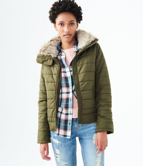 Aeropostale Extra 40% Off Clearance: Women's Tops from $4.19, Hooded Puffer Jacket $14.99, Men's L/S Thermal Tees $5.99 & More + shipping