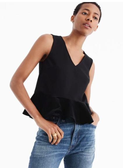 "J Crew Extra 50% Off Final Sale: Women's Velvet Peplum Top $7.49, Men's 10.5"" Cotton Madras Short $11.99 & More + shipping"