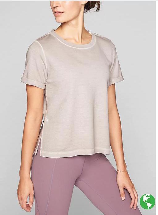 Athleta Eco Wash Restore Sweatshirt $12.79, Stripe Essence Low Tank $9.59 & More + Free S/H $50+