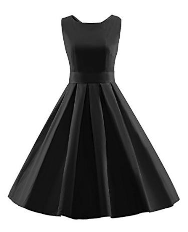 LUOUSE Women's Vintage Short Sleeve Dresses - Various Colors & Styles, $8.99 + Free S/H w/Amazon Prime