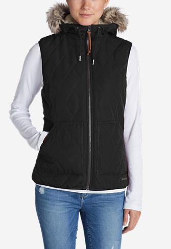 Eddie Bauer Women's SnowFurry Hooded Vest $35, SnowFurry Hooded Jacket $45 & More + Free S/H w/ShopRunner
