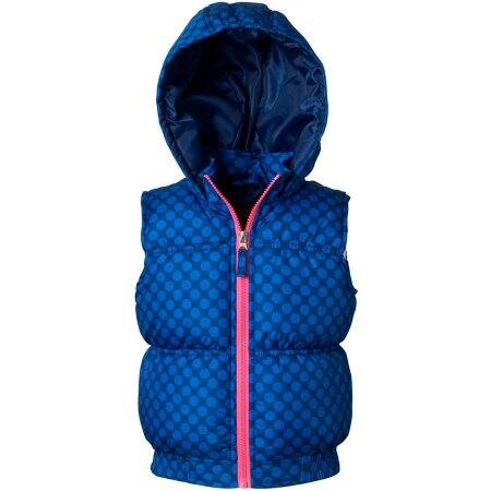Walmart: Girls Pink Platinum Tonal Color Dot Hooded Vest (sz 4-16) $5 + free store pick up