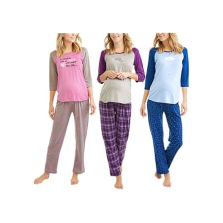 Walmart: Chili Peppers Maternity 3-pc Sleep Sets (Tee, Pant & Shorts) $5.99, Size Sm only, Various colors + free store pick up
