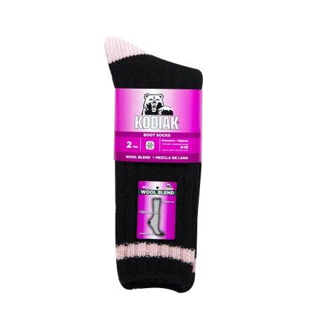 Walmart: Kodiak Women's Insulating Thermal Socks 2 Pack $3 (blk/pnk, gry/pnk) + Free store pick up