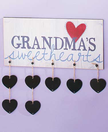 Grandma's Sweethearts Wooden Plaque $1.50, Football Bling Pashmina Scarf $1.99 & More + Free S/H
