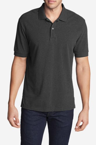 cc59ca7c44f2 Eddie Bauer Men s Field Short Sleeve Polo Shirt (Various Colors ...