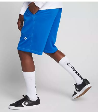"Men's Converse Royal Blue Hybrid Shorts or Black Essentials 9"" Lightweight Shorts $14.98 & More + Free S/H Nike+ Members"