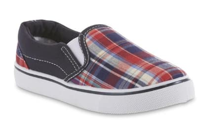 865277fb4341 Kmart.com Buy 1 Shoe Get 1 for  1  2 Pair Boys Editions Red Plaid Casual  Slip On  5.98   More+ Free S H  25+