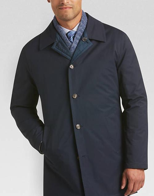 Men's Wearhouse: Joseph Abboud Reversible Modern Fit Raincoat Navy $24.99 & More + Free S/H