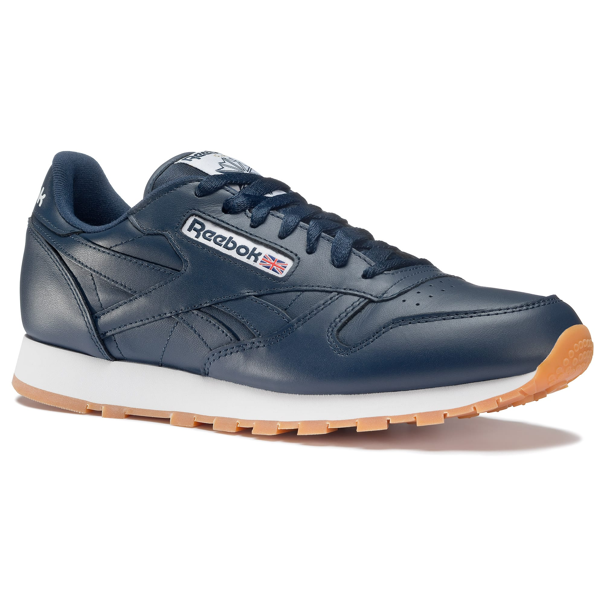 ede2a33fc1c3 Reebok Men s Classic Leather Navy Gum Shoes  22.50