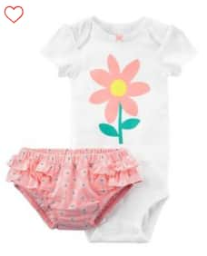 Carters Baby Girl 2-Pc Bodysuit Diaper Cover Set or Baby Boy 2-Pc Tank & Short Set $4.59 + Free S/H