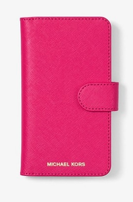 MICHAEL Michael Kors Ultra Pink Saffiano Leather iPhone Case $28.88 (7/8 or X) & More + Free 2 Day Shipping