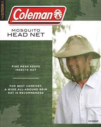 Walmart: 2 Pk Coleman Mosquito Head Net $3.76 ($1.88ea) + free store pick up
