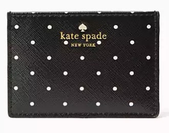 Kate Spade Extra 30% Off Sale Prices: Yours Truly or Brooks Drive Leather Card Holder $21 & More + Free S/H