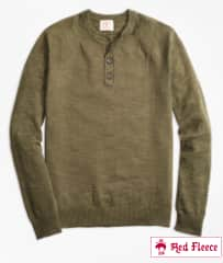 Brooks Brothers Men's Cotton Linen Henley Sweater or Breton Stripe Cotton Cashmere Sweater $29 & More + Free S/H