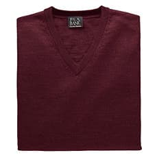 Jos A Bank Clearance: Signature Collection Merino Wool Vneck Sweater $17.98, Cole Haan Beckett Center Seam Oxford $52.48 & More + Free S/H
