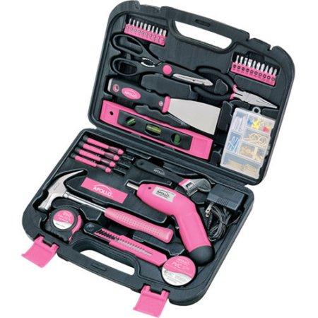 Walmart: Apollo Tools Precision 135pc Household Tool Set, Pink $29.99 + Free Store Pick Up