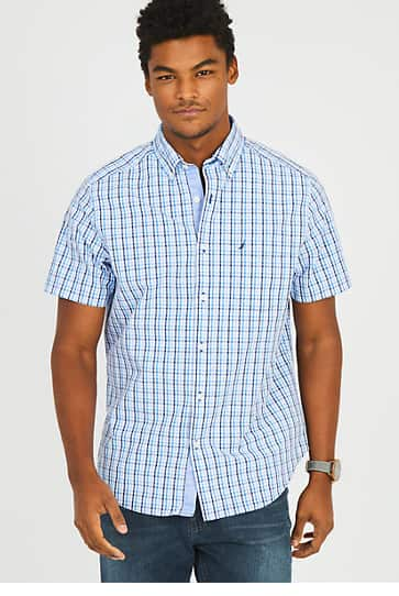 Nautica Extra 50% Off Clearance: Men's S/S Plaid Buttondown Shirts $14.99 Women's S/S Classic Fit Anchor Polo $13.79 & More + Free S/H $50+