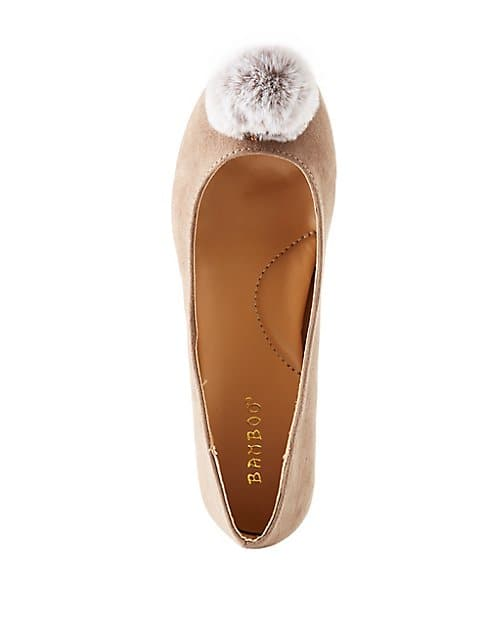 Charlotte Russe Shoe Clearance: Bamboo Pom Pom Pointed Toe Ballet Flats $3.49, Metallic Lace Up Pointed Toe Pumps $3.49 & More + shipping