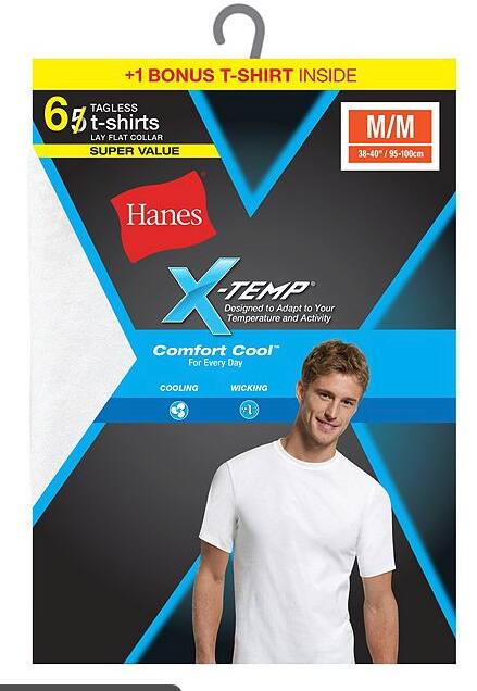 7eeb51620d3cc 6-Pack Hanes Men s FreshIQ X-Temp Crewneck Undershirts (White) EXPIRED