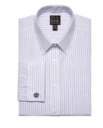9abb465a6b9f Jos A Bank Traveler Collection Tailored Fit Point Collar Dress Shirt ...