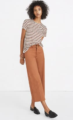 Madewell Coupon Extra 40% Off Sale Prices: Metallic Stripe Crewneck Tee $5.99, Scoopneck Bodysuit in Rikki Stripe $11.99 & More + Free S/H w/ Insiders Acct