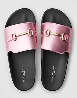 American Eagle Online Only Sale: Women's AEO Loafer Pool Slide $7.48, Women's Fur Lined Slip On Sneaker $13.10 & More + Free S/H $25+ Shoprunner