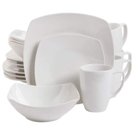 Walmart: Zen Buffetware 16 pc Dinnerware Set - Square - White - Fine Ceramic $16.63 + free store pick up