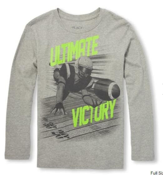 The Children's Place 75% Off All Clearance: Boys & Girls L/S Graphic Tees $2.62 & More + Free S/H