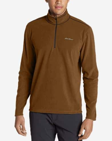 Eddie Bauer 50% Off Clearance: Quest Fleece 1/4 Zip Pullover $17.50 & More + Free S/H