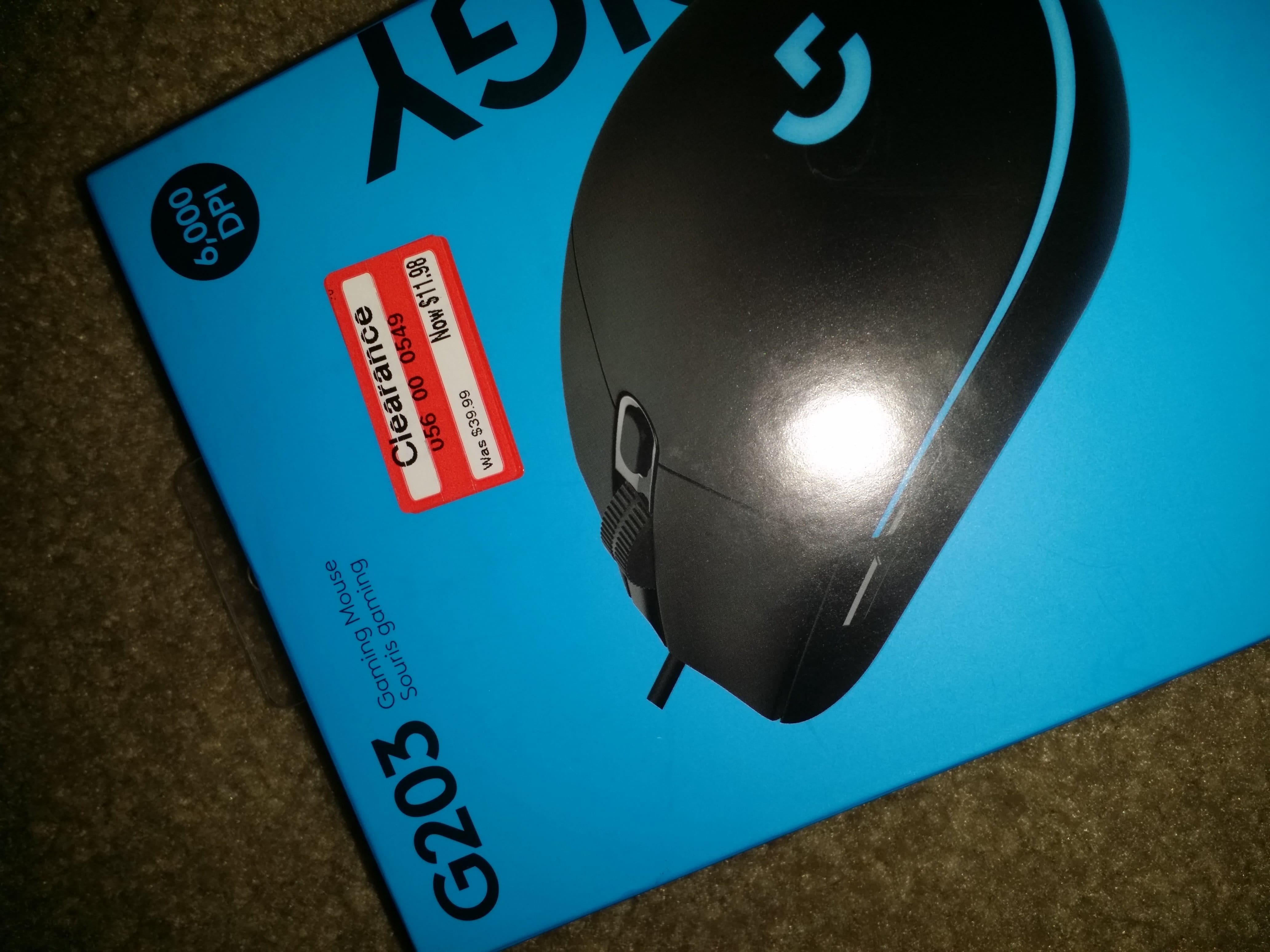 YMMV Logitech G203 Prodigy Gaming Mouse $11.98 @ Target Clearance