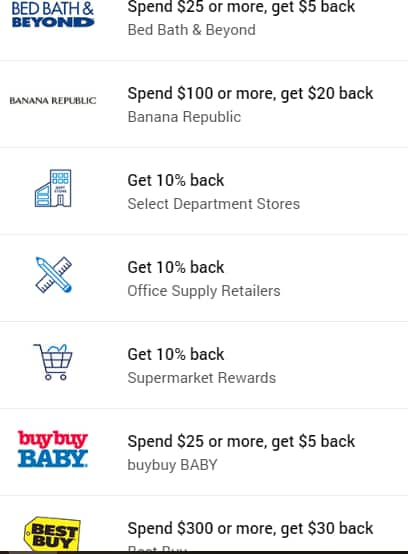 Amex Offers Bed Bath & Beyond Spend $25 get $5 backYMMV