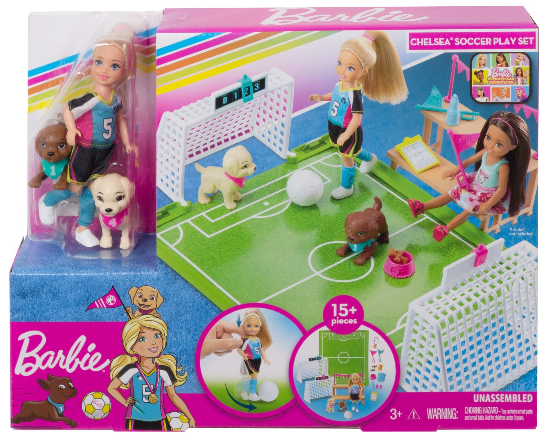YMMV - Walmart - Barbie Dreamhouse Adventures 6-Inch Chelsea Doll With Soccer Playset And Accessories - $1.50