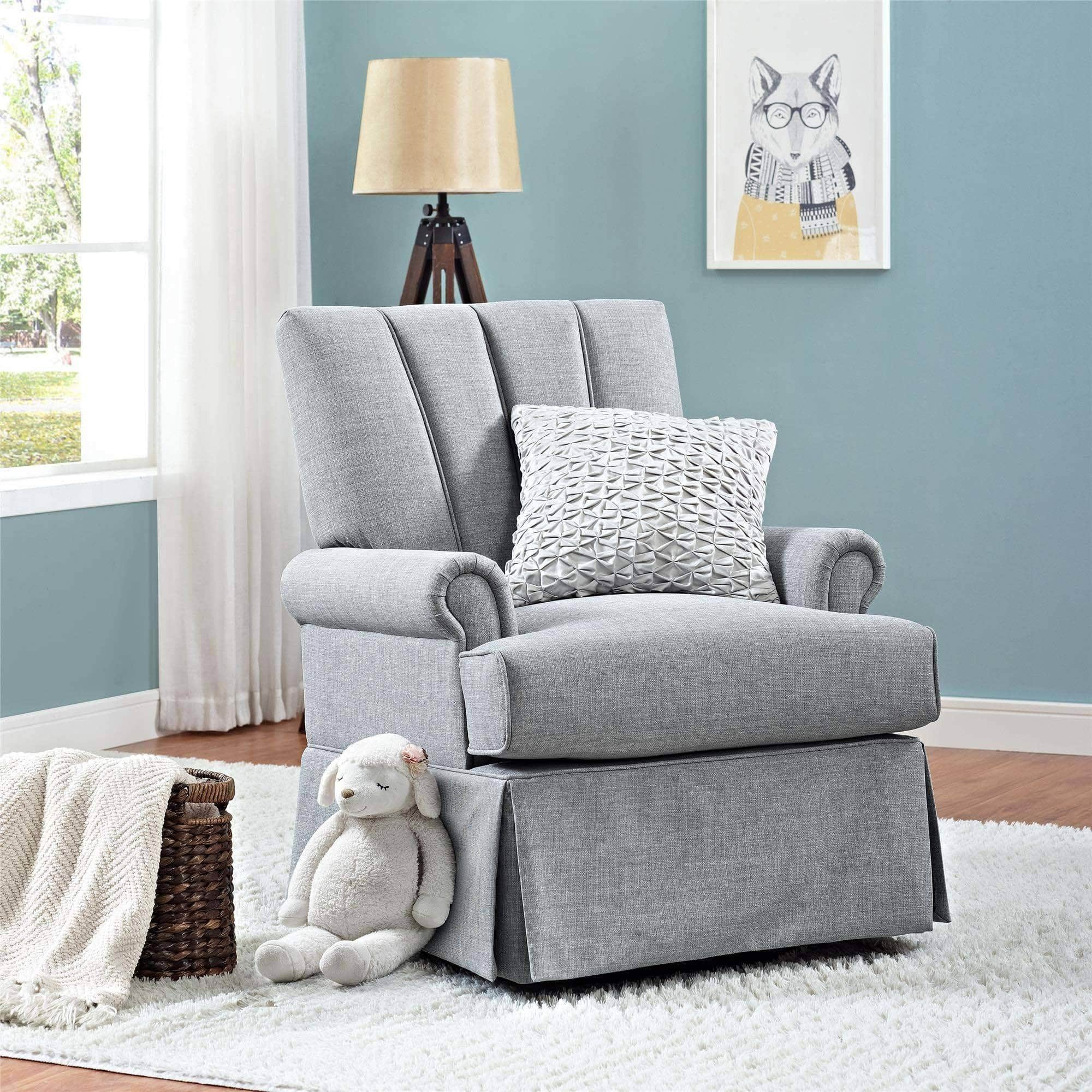 Better Homes and Gardens Channel Back Swivel Glider in Dove Gray $178.36 (after pick-up discount) + FREE S/H