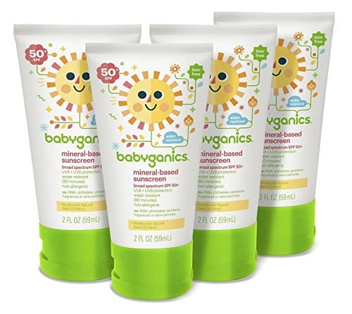 4-Pack Babyganics Mineral-Based SPF 50 Baby Sunscreen Lotion (2oz each) $6.66 w/ S&S + Free S/H