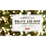 SHUTTERFLY $20 off $20+ (plus shipping)