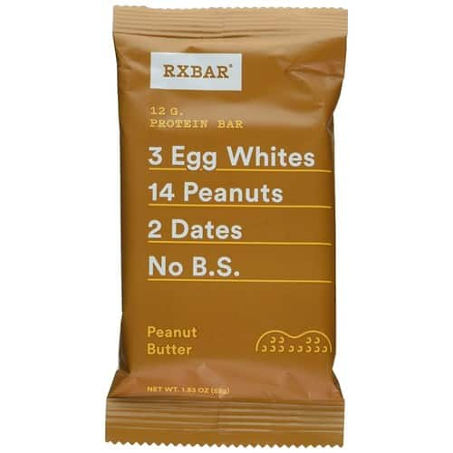 RX Bar Protein Bar, Peanut Butter, 12 Count $14.24 (SnS + First time delivery)