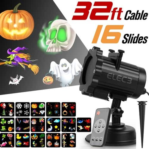 Elec3 Christmas Halloween Projector Light with RF Wireless Remote for $36.99 @Amazon