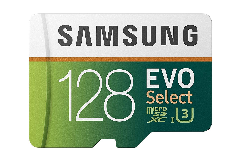 Samsung 128GB 100MB/s (U3) MicroSD EVO Select Memory Card with Adapter (MB-ME128GA/AM) $36.99