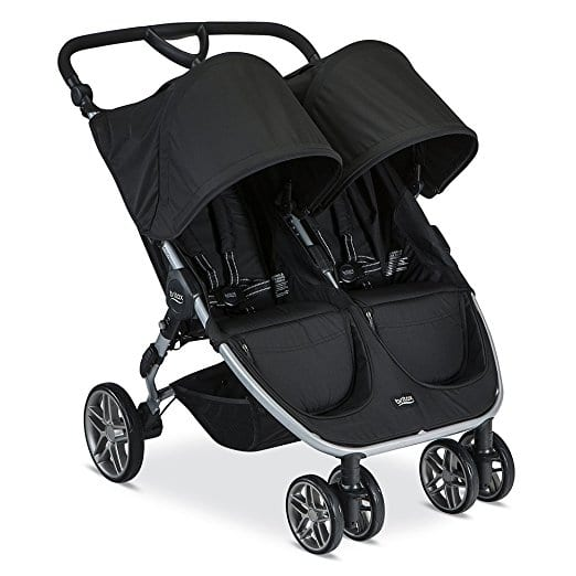 Britax 2017 B-Agile Double Stroller, Black $259
