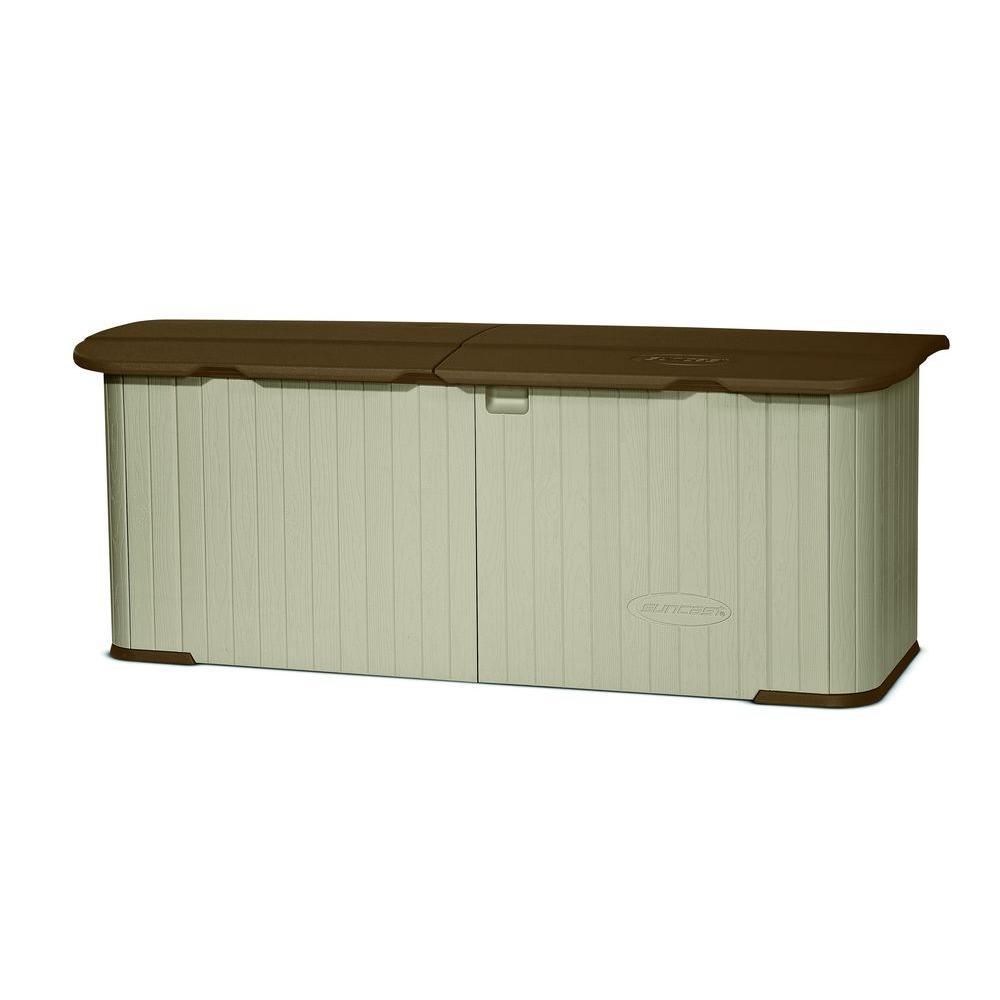 Multi-Purpose 3 ft. x 7 ft. 4 in. Resin Split Lid Storage Shed $189