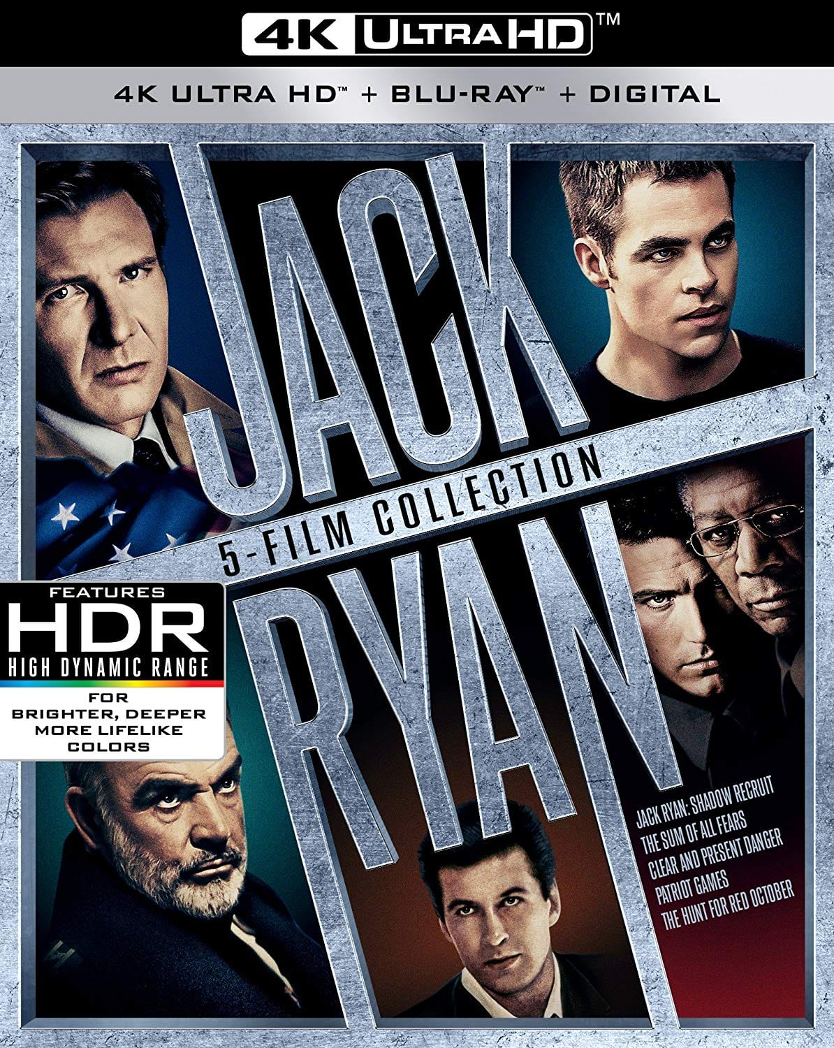 Jack Ryan 4K 5-Movie Collection $31.49 on Amazon with Free Shipping.