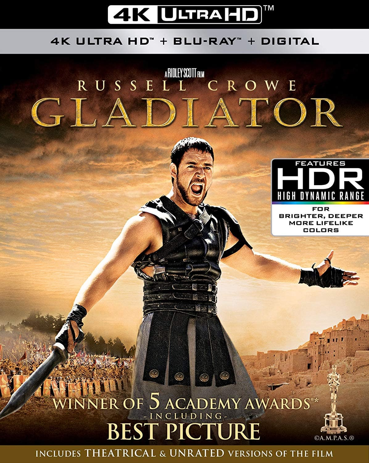 Gladiator 4K UHD $9.99 on Amazon.  Free Shipping with Prime or $25 Purchase
