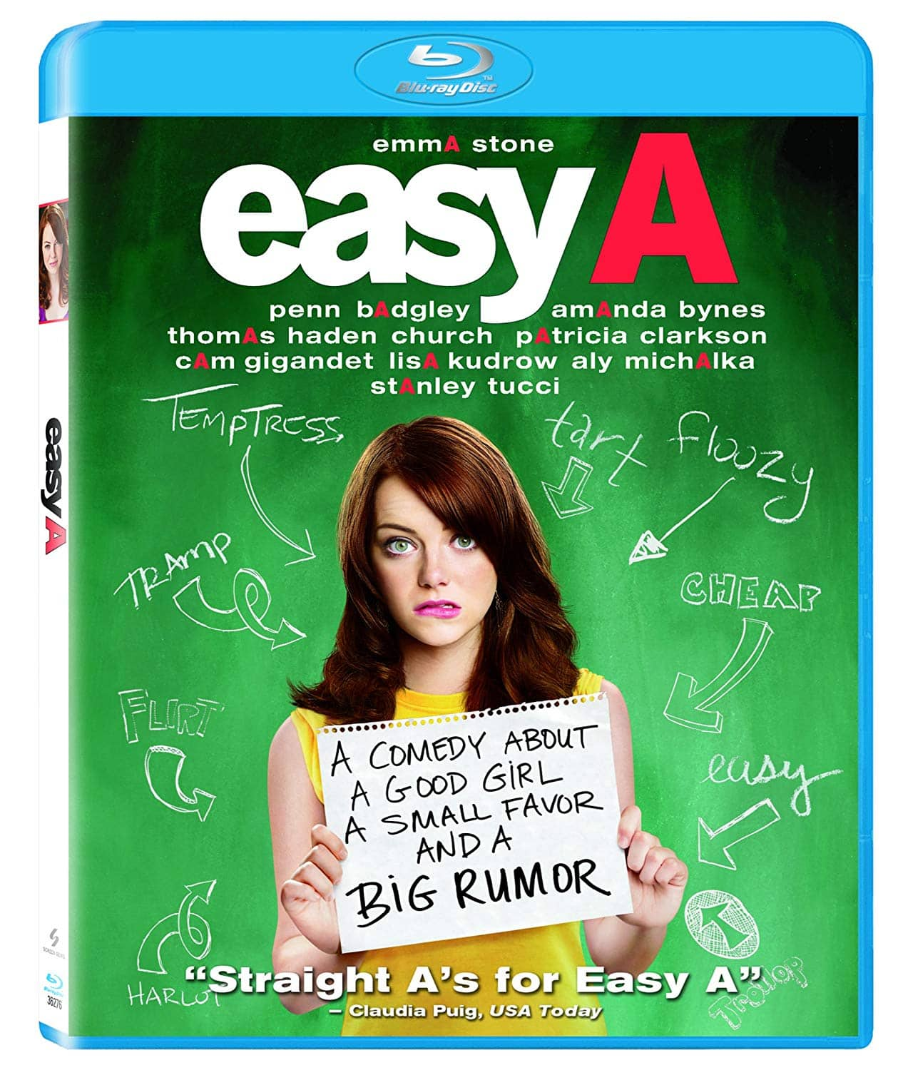 Easy A (Emma Stone) $4.85 Blu-ray on Amazon.  Free Shipping with Prime or $25 Purchase.