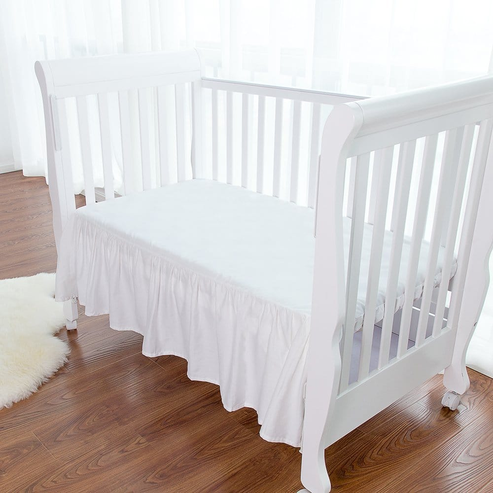 Amazon 100%  cotton 2-pack baby crib skirt - $3.80