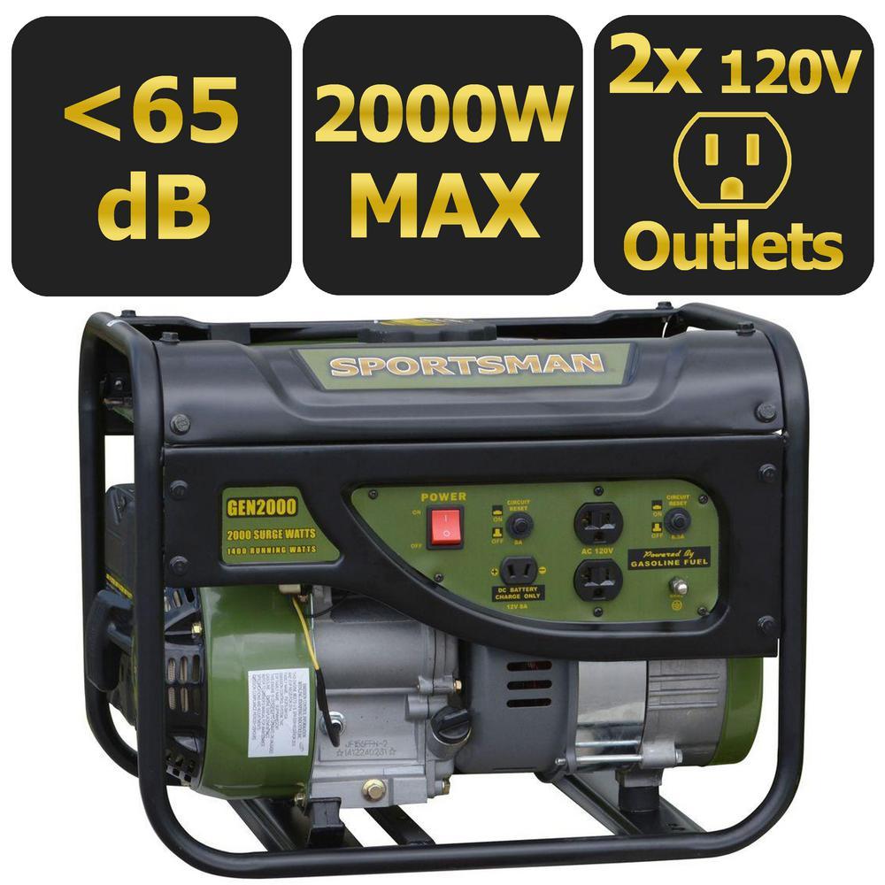 Home Depot / Walmart - Sportsman 2000/1400 Watt Gasoline Generator - $149 + tax - Free Shipping