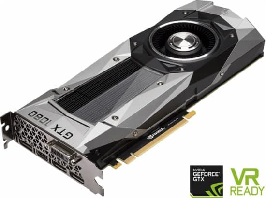 NVIDIA - Founders Edition GeForce GTX 1080 8GB GDDR5X PCI Express 3.0 Graphics Card - $589