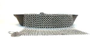The Ringer XL Cast Iron Cleaner - Stainless Steel Chainmail Scrubber for $14.99