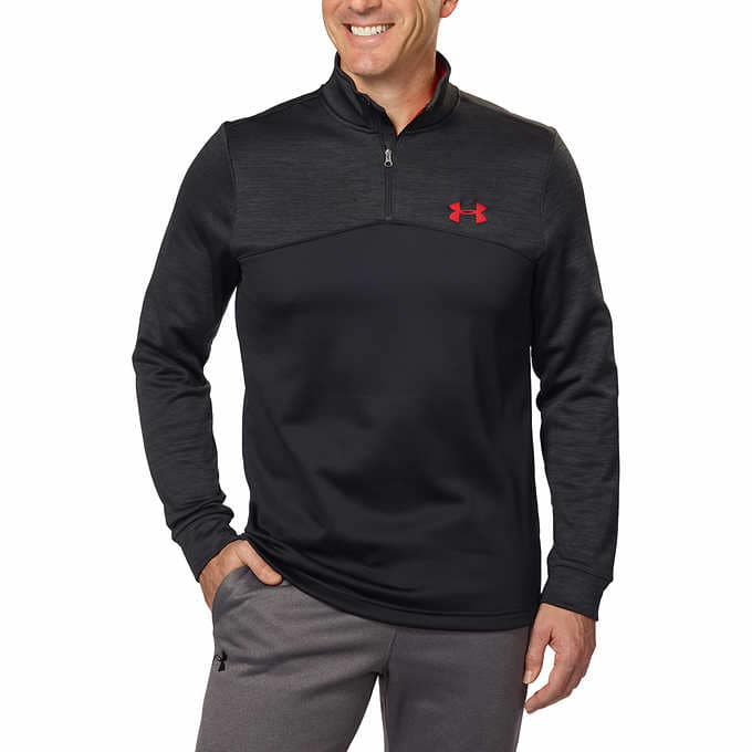 230a21a522114 Costco Member-only: Under Armour Men's Storm Fleece Icon ¼ Zip Pullover or  Storm Armour Fleece Jogger, Various Colors & Sizes $34.99